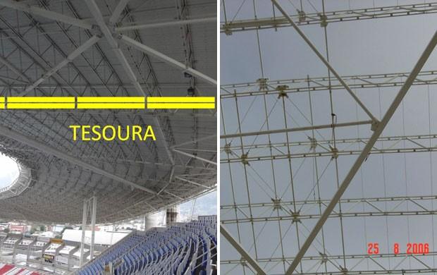 Montagem Engenhão vistoria (Foto: Divulgação)