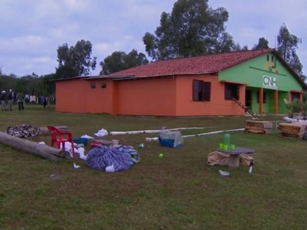 Incêndio em clínica de reabilitação matou sete pessoas em Arroio dos Ratos (RS) (Foto: Reprodução/RBS TV)