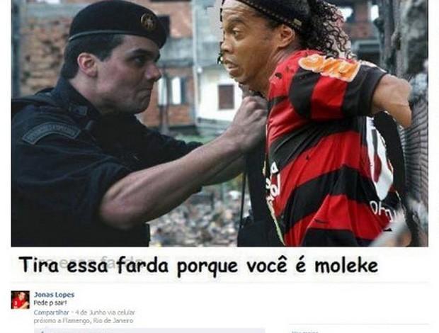 Ronaldinho Cap. Nascimento montagem Facebook (Foto: Reprodução / Facebook)
