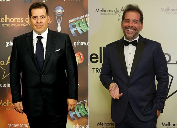 Leandro Hassum mais magro e mais grisalho de 2014 para 2015 (Foto: Carol Caminha/Gshow)