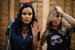 Bastidores da gravação do DVD de Ju Moraes (Foto: Divulgação)