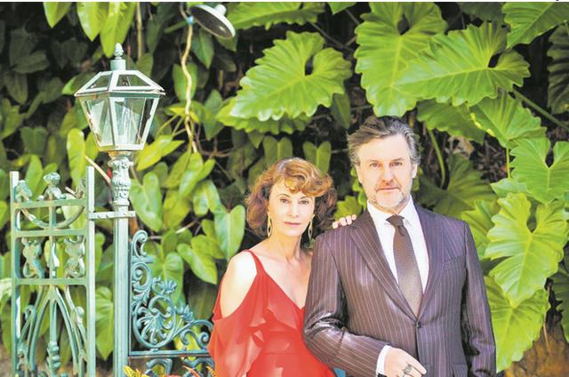 Antonio Calloni com a cravista Rosana Lanzelotte (Foto: Divulgação)