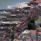 'Virgens de Verdade' reuniu multidão (Reprodução / TV Globo)