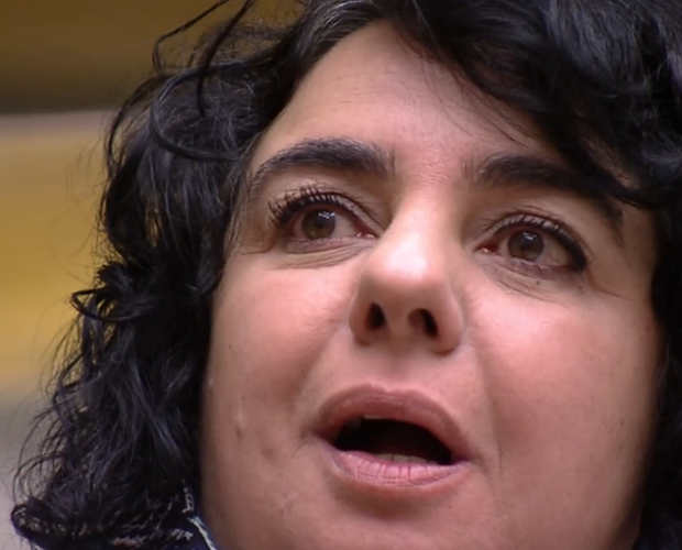Mariza vê gêmeas (Foto: BBB / TV Globo)