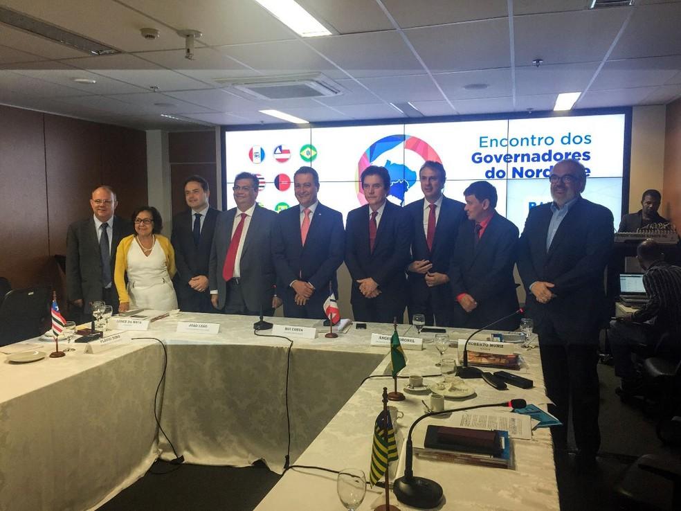 Governadores do Nordeste cobram mais investimentos em segurança  (Foto: Governo do Ceará/Divulgação)