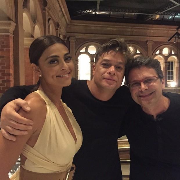 Juliana Paes, c e o diretor Luiz Henrique Rios (Foto: Reprodução/Instagram)