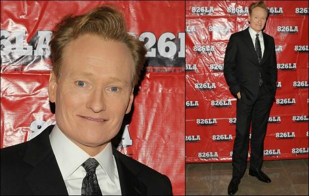 O comediante e apresentador Conan O'Brien é um grande homem. Ao menos na estatura, que chega a 1,93m. (Foto: Getty Images)