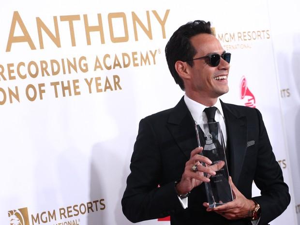 Marc Anthony em prêmio de música em Las Vegas, nos Estados Unidos (Foto: Tommaso Boddi/ AFP)