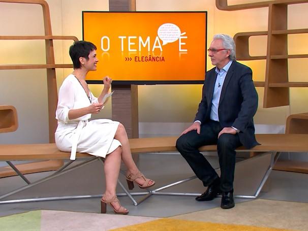 Sandra conversa com o professor Eugênio Mussak (Foto: Globo)