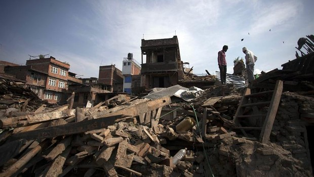 Novo terremoto atinge o Nepal (Foto: Agência EFE)
