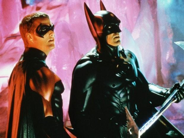 Chris O'Donnell e George Clooney em 'Batman e Robin' (Foto: Divulgação)