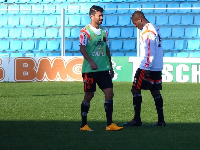 Eduardo da Silva, treino Flamengo (Foto: Cahê Mota)