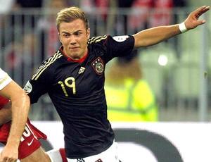 Mario Götze no jogo da Alemanha (Foto: Reuters)