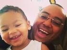 Dudu Nobre posta foto ao lado do filho: 'Em casa com o meu príncipe'
