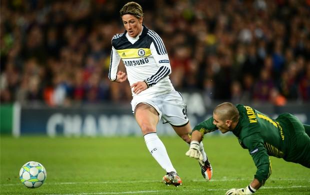 Fernando Torres Chelsea x Barcelona (Foto: Getty Images)