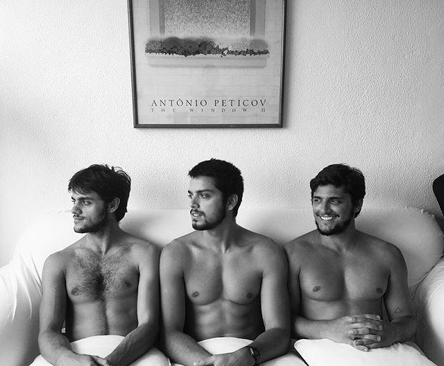 Felipe, Rodrigo e Bruno (Foto: Instagram / Reprodução)