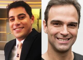 Evaristo Costa e Tadeu Schmidt  (Foto: Instagram / Reprodução - Globo/João Cotta)
