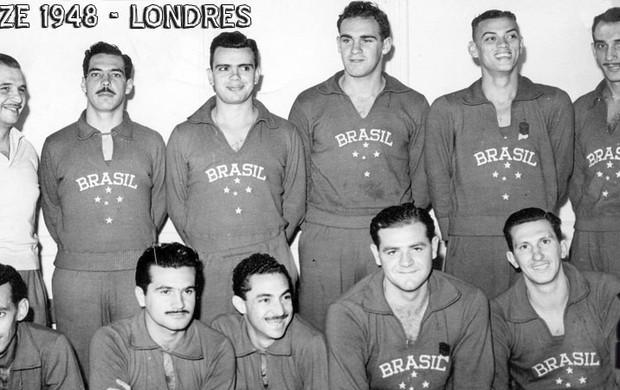 Seleção brasileira de basquete 1948 (Foto: Divulgação)