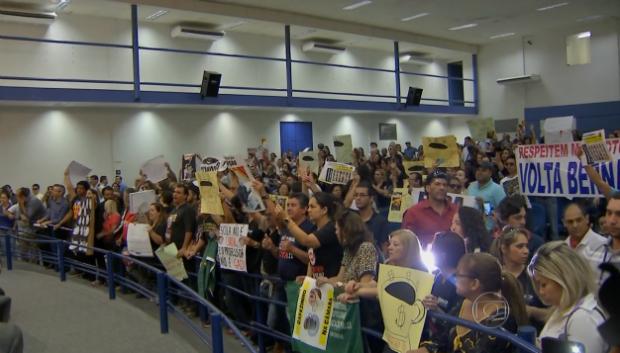 Greve dos professores ´destaque no Bom Dia Brasil (Foto: TV Morena)