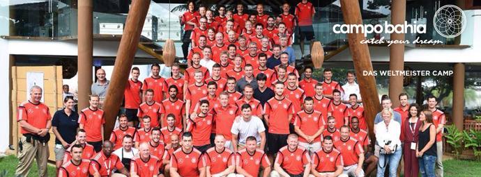 Seleção da Alemanha no Campo Bahia (Foto: Divulgação)