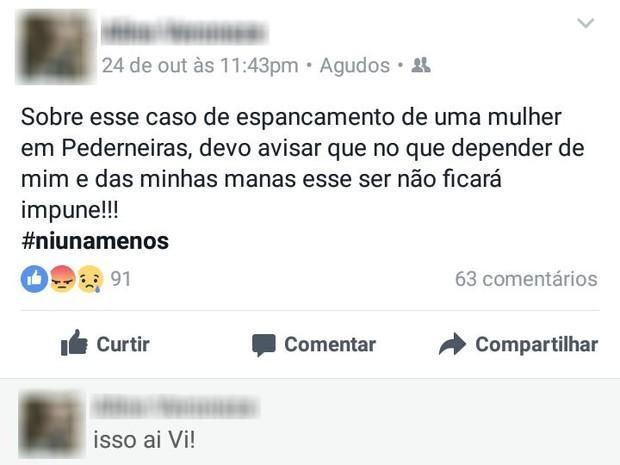 Caso teve repercussão nas redes sociais  (Foto: reprodução/Facebook)