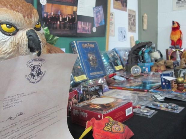 Exposição sobre Harry Potter faz parte do Anime Summer em Santos (Foto: Anna Gabriela Ribeiro/G1)