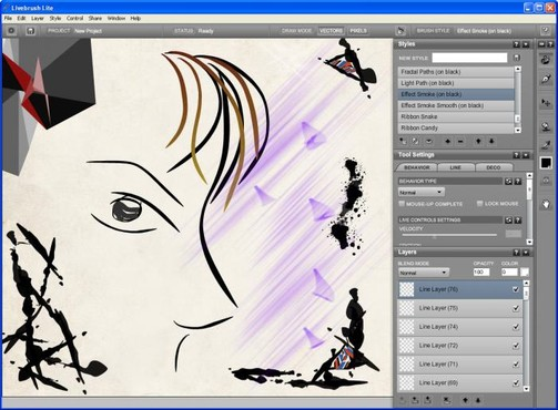screenshot de Livebrush