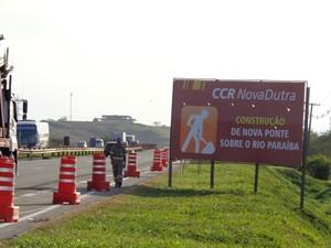 Obras começam neste domingo na Via Dutra, em Resende, RJ (Foto: Diego Gavazzi/TV Rio Sul)