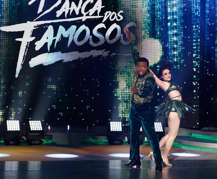 Érico Brás mandou bem no palco do Domingão (Foto: Inácio Moraes/Gshow)