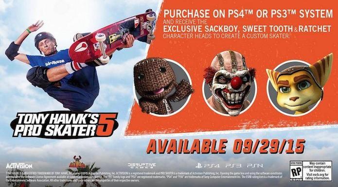 Tony Hawks Pro Skater 5: versões para PlayStation terão personagens exclusivos (Foto: Divulgação)