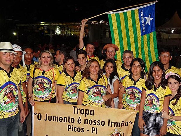 Tropa de Picos no centenário de Luiz Gonzaga, em Exu (Foto: Luna Markman / G1)