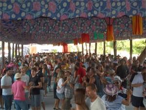 Festa do Bode Rei reúne cerca de 50 mil turistas (Foto: Rafael Melo/G1)