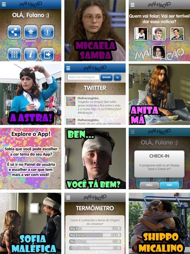 Cards, quiz, check-in e muito mais! O app transforma a experiência de assitir Malhação (Foto: TV Globo / Malhação)