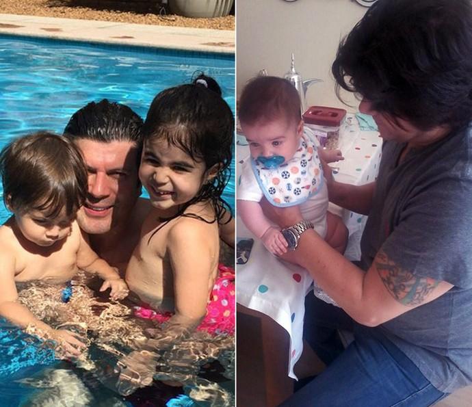 Paulo Ricardo com os filhos Luís Eduardo, Isabela e a caçula Diana (Foto: Arquivo pessoal)