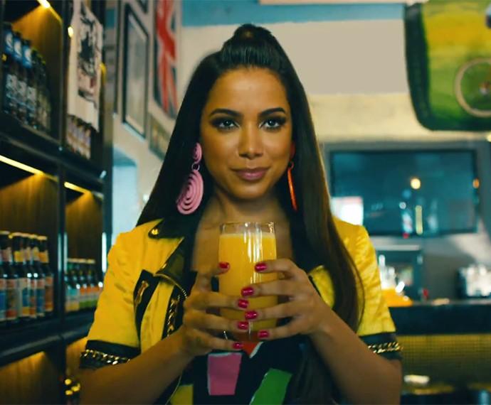 Anitta gravou na Vila Madalena, em São Paulo (Foto: Reprodução)