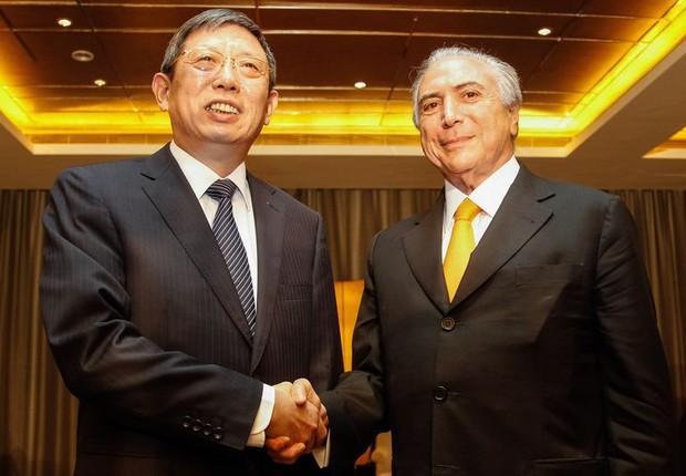 Michel Temer encontra prefeito de Xangai, Yang Xiong (Foto: Beto Barata)
