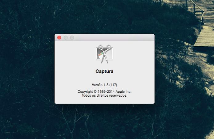 Ferramenta de Captura do Mac OS X (Foto: Reprodução/Marvin Costa)