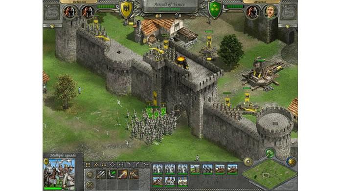 Em Knights of Honor o jogador poderá fazer ataques diretos ou adotar políticas agressivas (Foto: Divulgação)