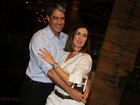 William Bonner e Fátima Bernardes vão ao aniversário de Tande