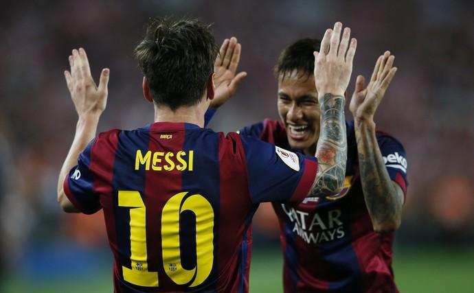 Messi Neymar gol Bilbao x Barcelona Copa do Rei  (Foto: Reuters)