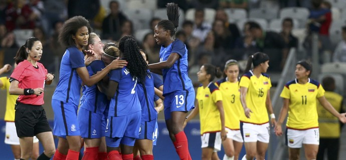 França x Colômbia Olimpíada Mineirão (Foto: Mariana Bazo/Reuters)