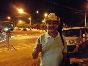 Ganhador do voto popular Romeu Paulino da cidade de Coração de Jesus. (Foto: Alexandre Fonseca/G1)