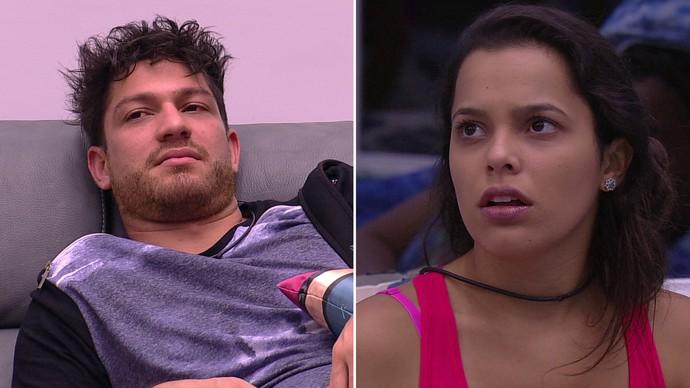 Treta entre Luiz Felipe e Mayla marcou a noite deste domingo (Foto: TV Globo)