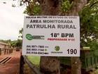 Parceria entre PM e agricultores melhora segurança no campo em GO