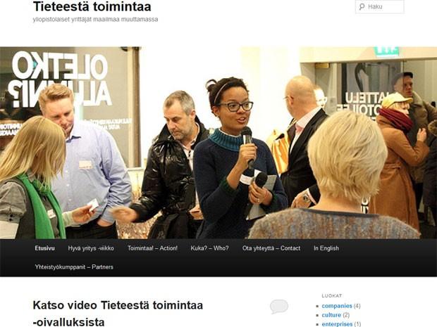 Luciana Polonen é destaque em blog voltado para a comunidade acadêmica da Finlândia (Foto: Reprodução)