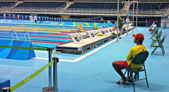salva-vidas; olimpiada; rio 2016; Estádio Olímpico de Esportes Aquáticos; José Renato dos Santos (Foto: Raphael Carneiro)