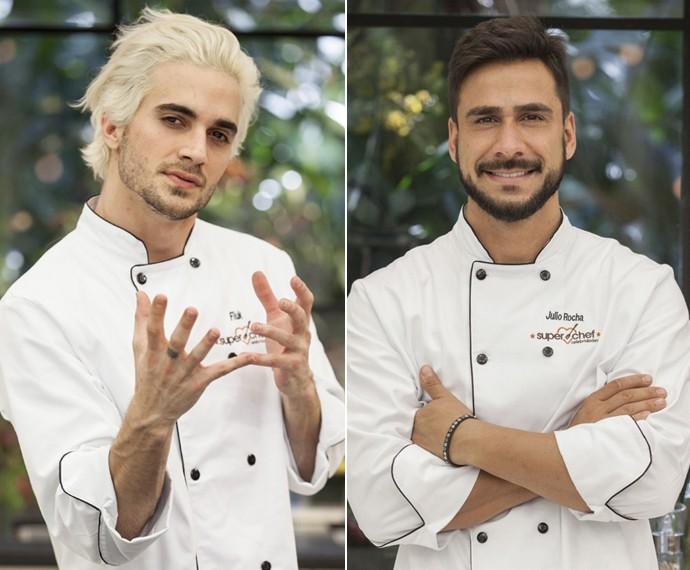 Fiuk e Julio Rocha (Foto: Pedro Curi/TV Globo)