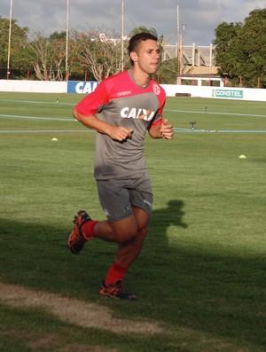 Júnior Timbó, novo meia do América-RN (Foto: Jocaff Souza/GloboEsporte.com)