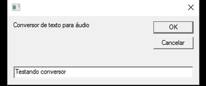 Conversor lê qualquer texto inserido (Foto: Reprodução/Windows)