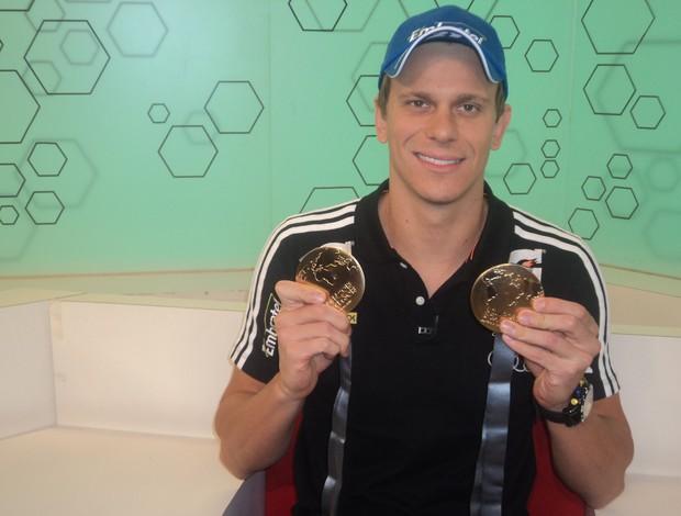 Cesar Cielo, Bem, Amigos! (Foto: Thiago Braga/SporTV.com)